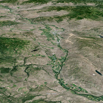 Okanogan River into north-central Washington (GoogleEarth views)