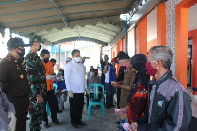 Bupati Edy Launching Penyaluran BST Terdampak Covid-19
