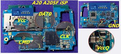 ISP PinOut Samsung SM-A205F