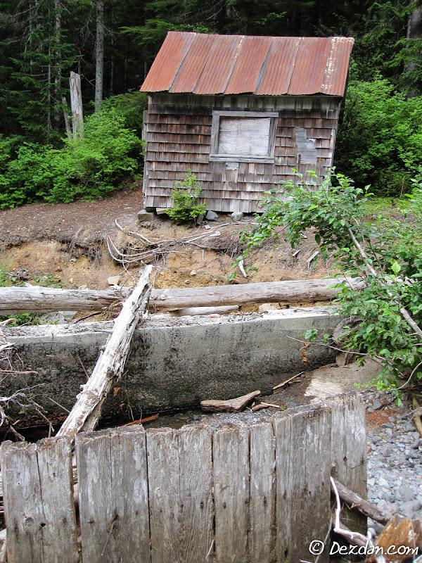 The dam cabin.
