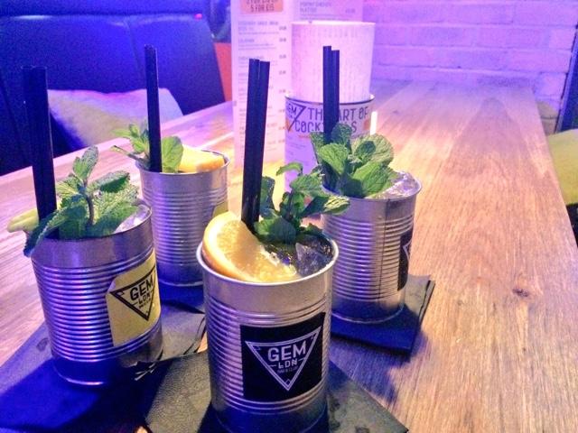 Cocktails at Gem LDN Soho