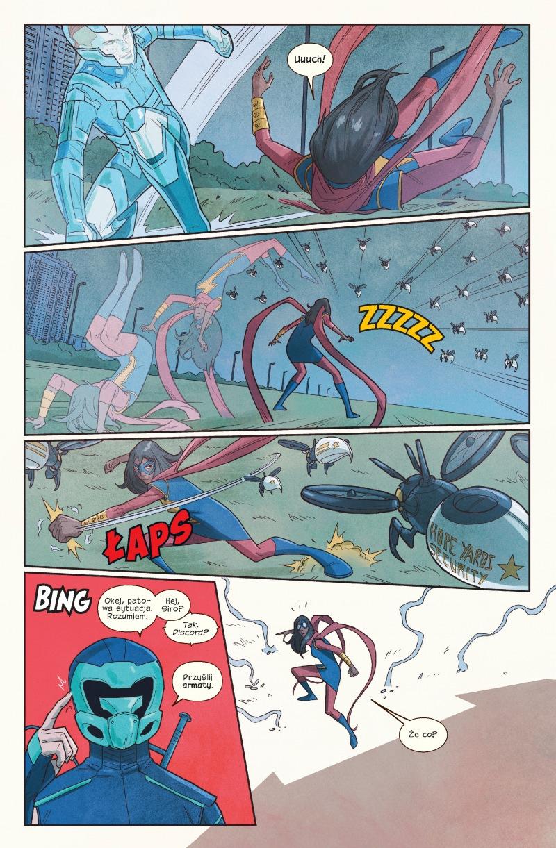 Ms Marvel tom 8 przykładowa strona