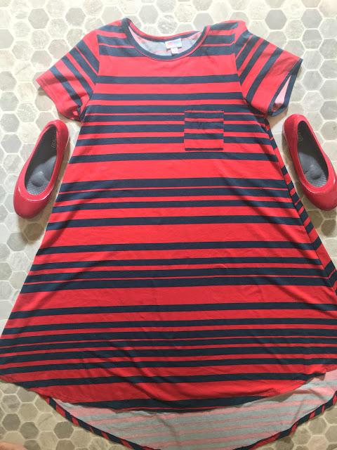 Ja-vie Comfy Jelly Knit Flats, Indigo Stripe