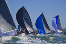 J/120 sailboats- reaching across San Francisco Bay
