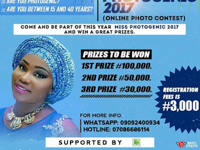 REGISTER FOR MISS PHOTOGENIC BEAUTY CONTEST 2017