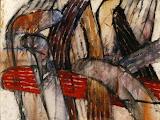 exode 2 / huile toile / 60x80 / 1999