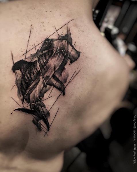 este_esboço_estilo_de_tubaro-martelo_tatuagem