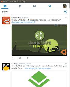 Anatine, interesante cliente Twitter para Ubuntu y Linux. Modo claro.