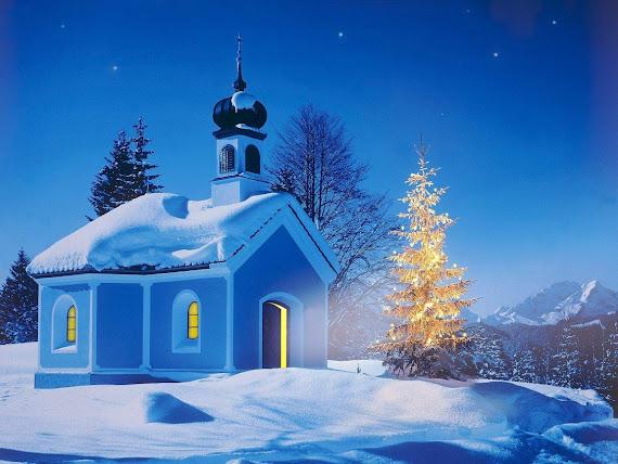 besplatne Božićne pozadine za desktop 1152x864 free download čestitke blagdani Merry Christmas crkva