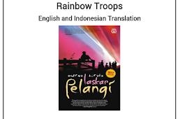 Contoh Tugas Resensi Bahasa Inggris Novel Laskar Pelangi + Terjemahan