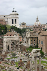 The Forum Romanum from above