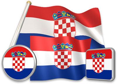 Croatian flag animated gif collection