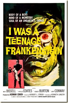 I WAS A TEENAGE FRANKENSTEIN poster by Alex Kallis
