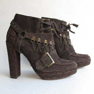 Opening Ceremony Suede Leather Booties