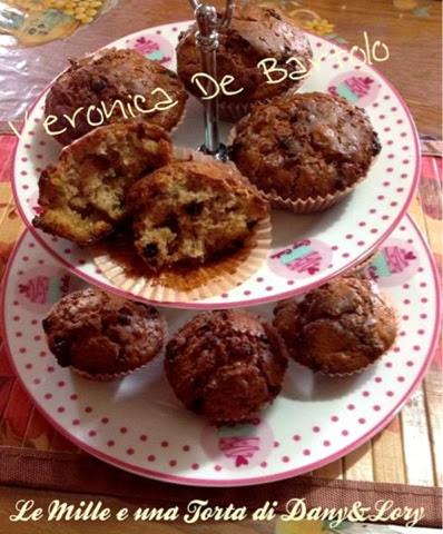 muffin alle noci e gocce di cioccolato