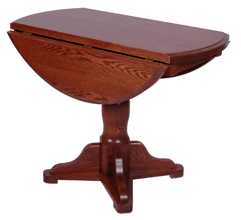 Round riverside drop leaf table erik organic for Round drop leaf dining table