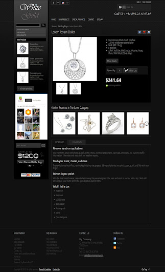 Product Detail of White Gold 1.0 Prestashop Themes