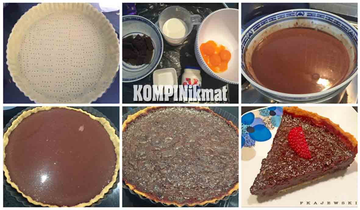 Sudah usang sekali saya kepingin coba bikin pie atau tart dan sejenisnya Resep Kue Tart Cokelat Panggang Praktis, Enak dan Nyoklat Banget