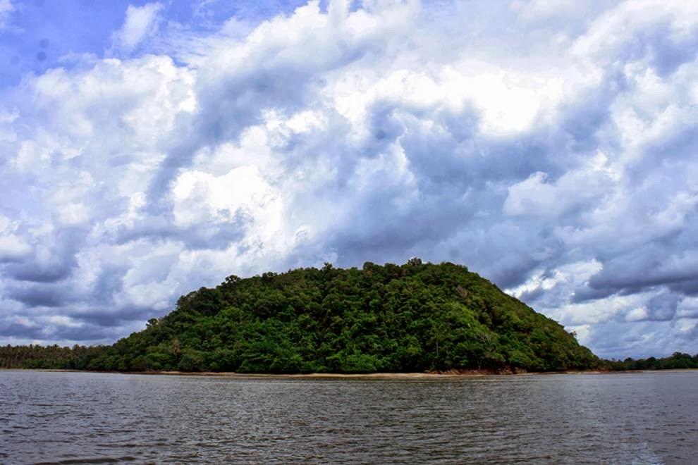 Mt. Saranjana at Pulau Laut Island