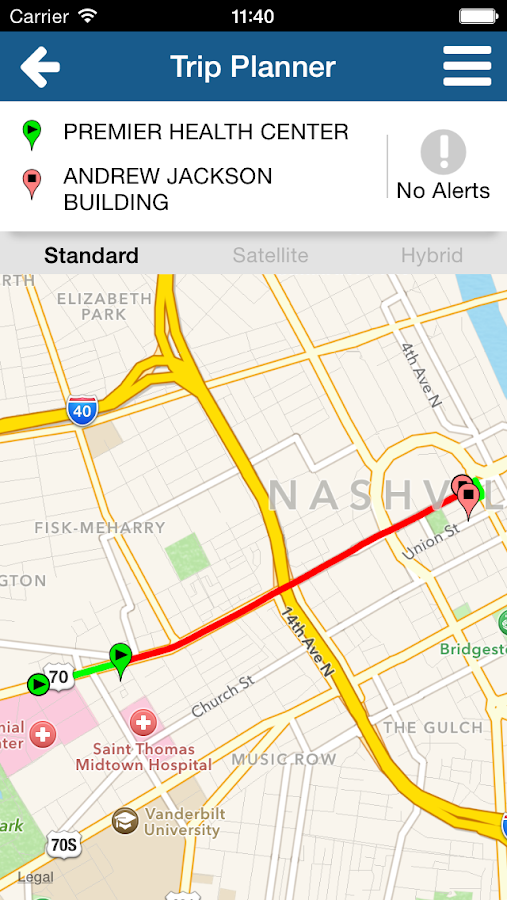 Music City Transit Tracker- screenshot