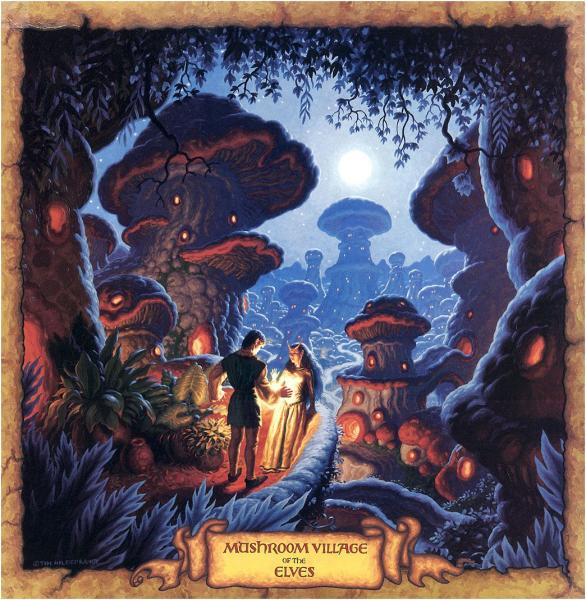 Mushroom Village Of The Elves, Fantasy Scenes 1
