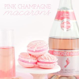 Pink Champagne Macarons