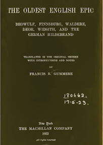 Cover of Francis Gummere's Book The Oldest English Epic Beowulf Finnsburg Waldere Deor Widsith