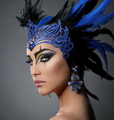 maquiagem-de-carnaval-azul