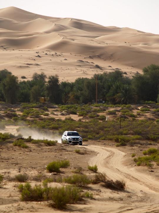 BMW on sand track