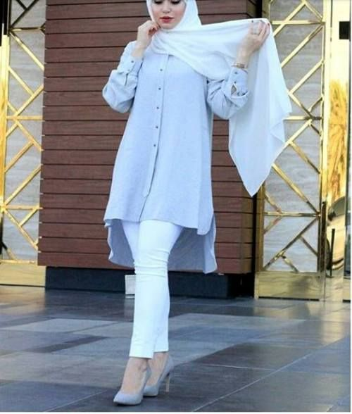 AMAZING CASUAL HIJAB OUTFITS DESIGNS FOR LADIES 2019 3