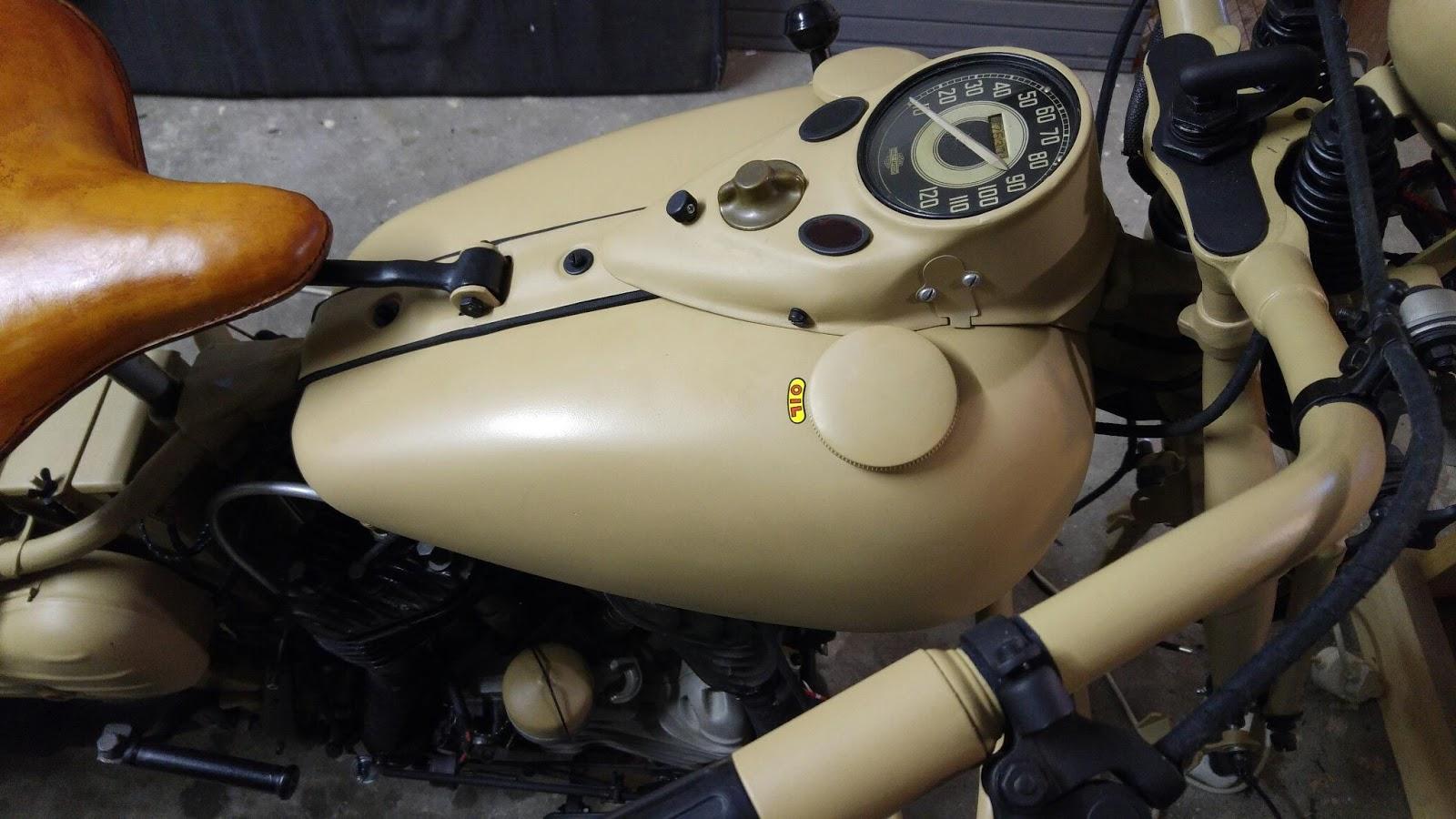1941 Harley Davidson WL Restoration : Test Fitted the