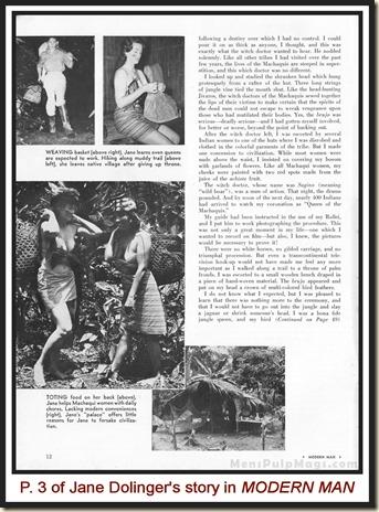 MODERN MAN, March 1963 Jungle Jane Dolinger p3