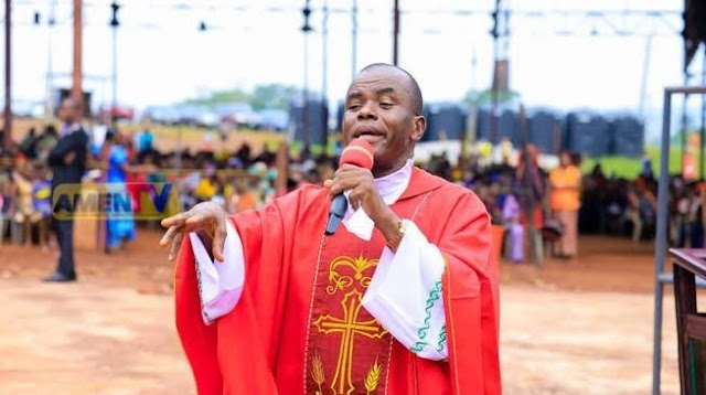 Catholic church suspends Fr- Mbaka for one month.