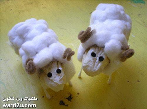 عمل خروف للاطفال بطريقة بسيطة