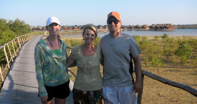 Visiting Flamingo Bay Resort near Tofo in Mozambique