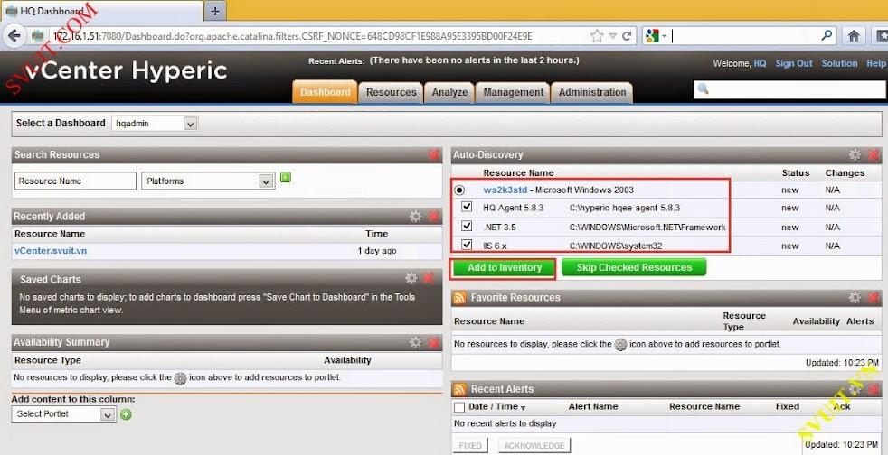 Configure vSphere vCenter Hyperic (2)