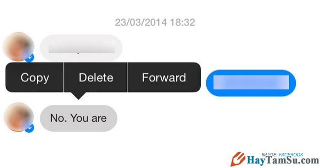 Cách Xóa từng tin nhắn trên Facebook Messenger