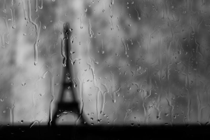 Eiffel Tower in rain