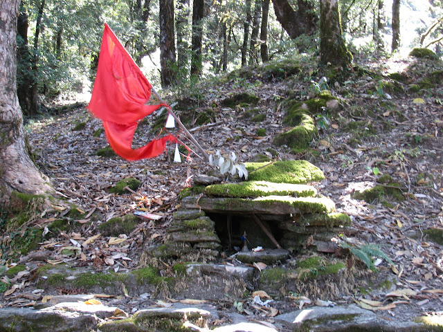 a small shrine along the trail