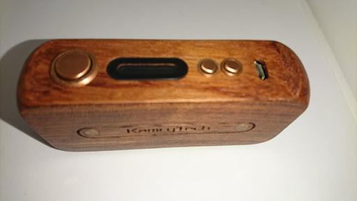 DSC 2217 thumb%25255B2%25255D - 【MOD】「Kamry 80W UTC ウッドBOX MOD」驚異のカムリー超コンパクト軽量MODレビュー!!軽いだけ、、いやそんなはずは、、【電子タバコ/軽量MOD】