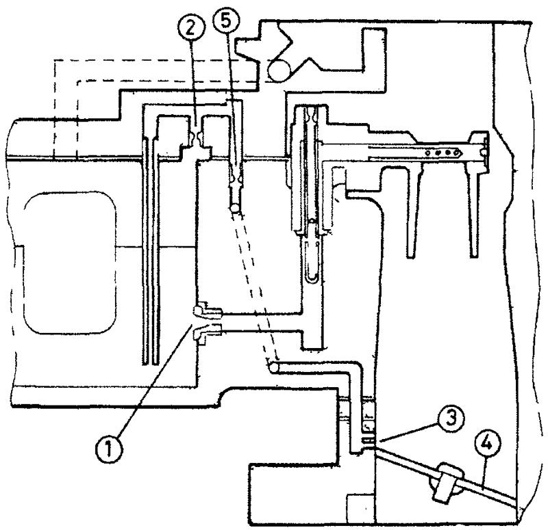 Схема системы переходного режима вторичной камеры