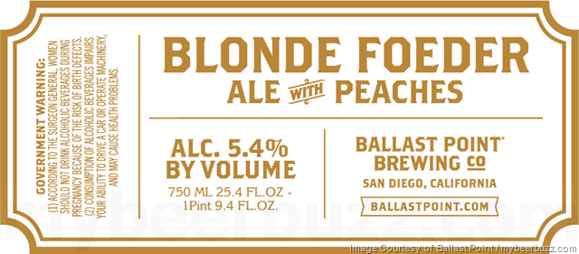 Ballast Point Adding Limited Release Blonde Foeder Ale With Peaches