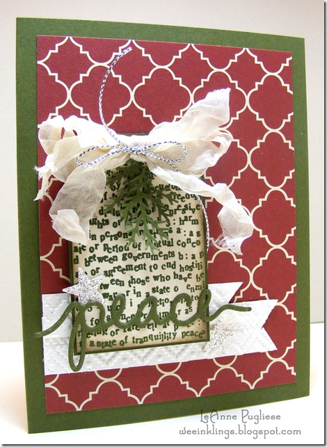 LeAnne Puglise WeeInklings TSOT246 Peaceful Christmas CTMH Stampin Up