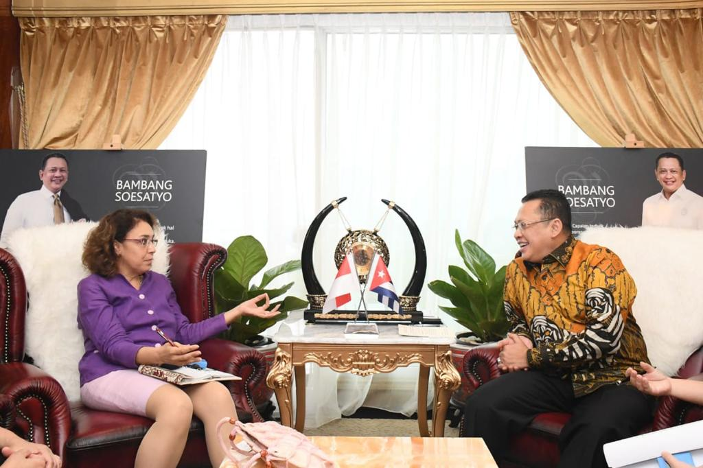 Ketua MPR RI Sebut Kerjasama Kesehatan Indonesia - Kuba Perlu Ditingkatkan Dalam Melawan Covid-19
