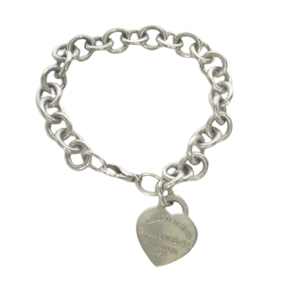 Tiffany & Co. Sterling Silver Return To Heart Tag Bracelet