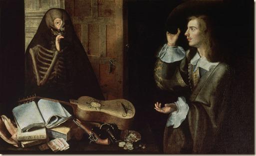SEVILLA HOSPITAL DE LA CARIDAD VANITAS - LA MUERTE Y EL CABALLERO - 1670 - BARROCO ESPAÑOL Obra de CAMPROBIN PEDRO 1605/74