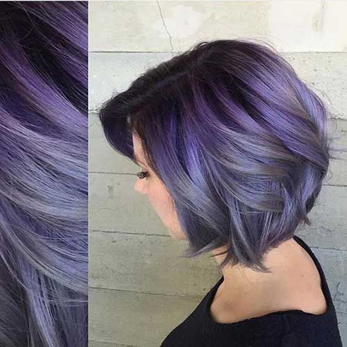 Hair:short hairstyles with different colors for 2018 10
