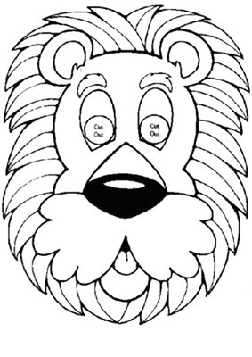 leon mascara de animales  para colorar (51)_thumb