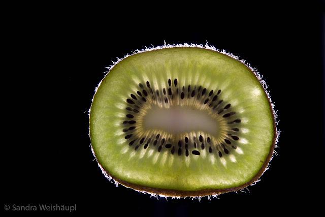 Kiwi im Licht
