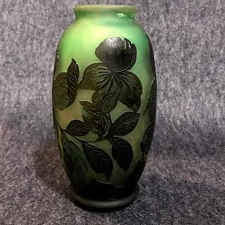 Emile Gallé Reproduction Art Glass Vase